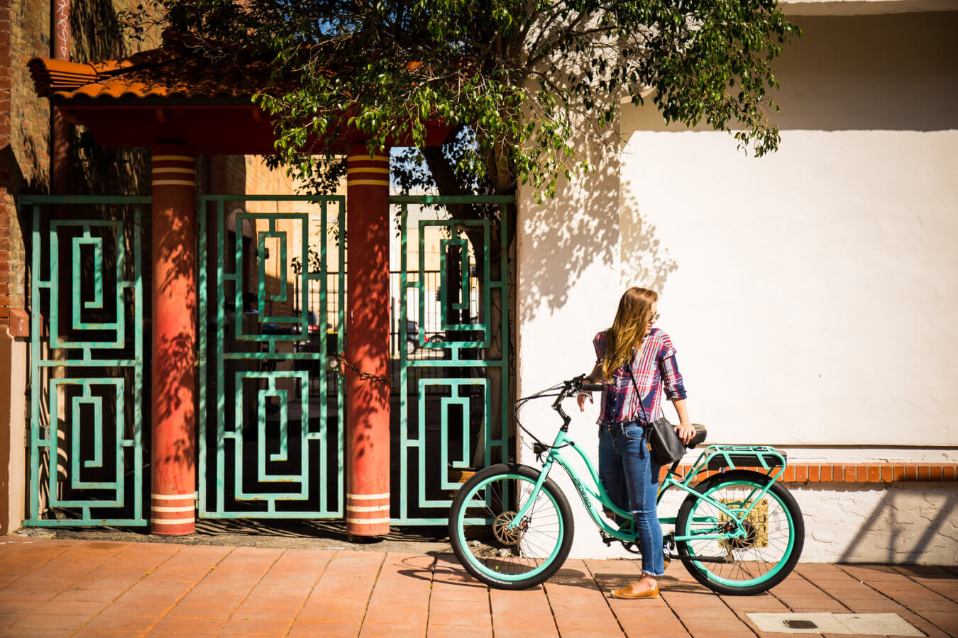 Electric Bike Downtown photoshoot