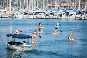 stand-up paddleboarding at Ventura Harbor