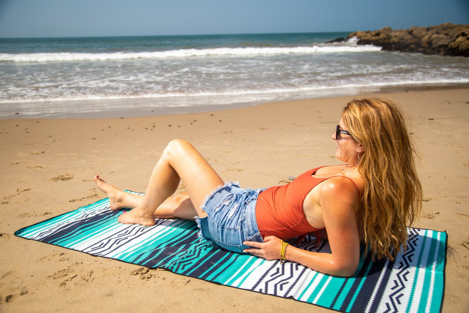 Laying on the beach in ventura Ca