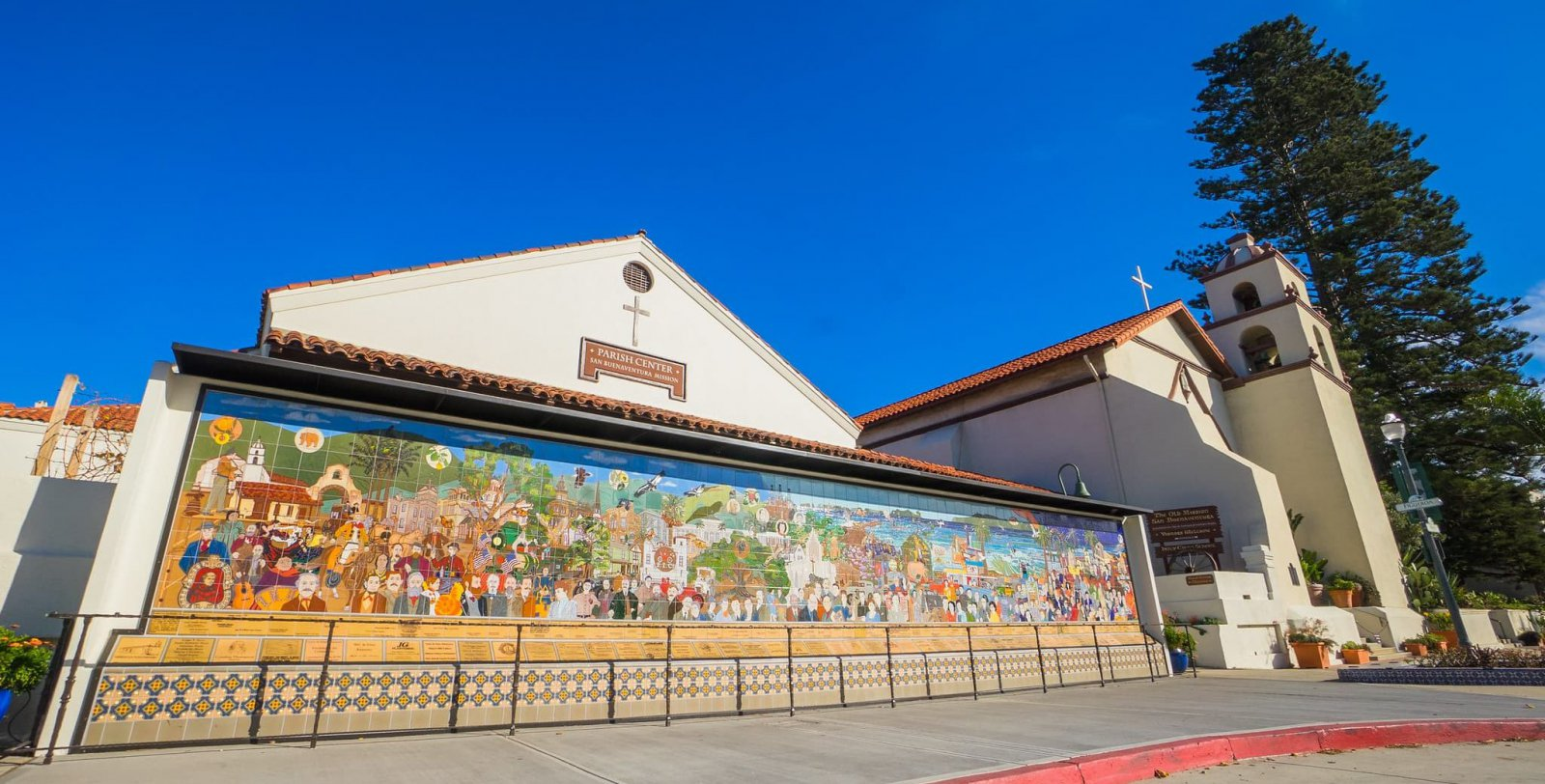 san buenaventura mission and mural