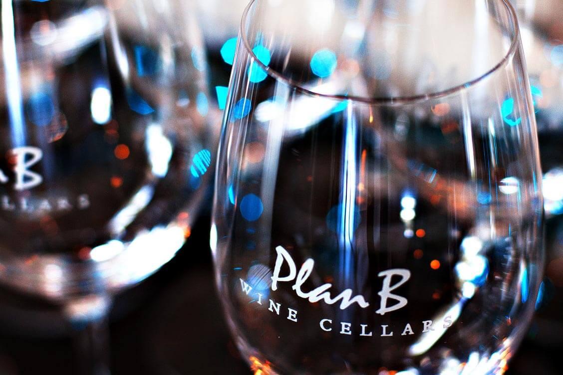 Plan B Wine Cellar glasses