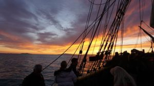 tall ships ventura harbor sunset
