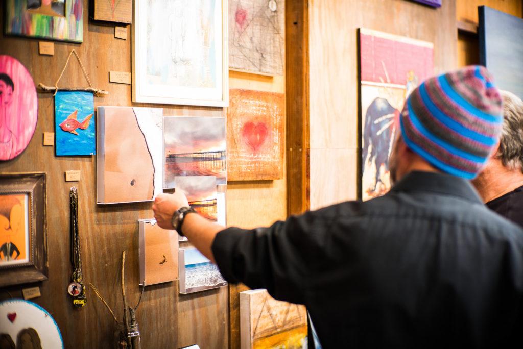 Viewing art at Bell Arts Factory