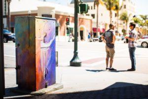 downtown ventura utility box mural art