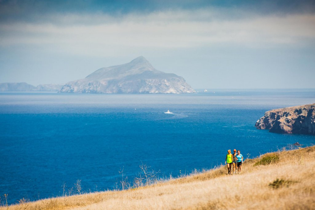 Breathtaking views on the channel Islands hiking trails.