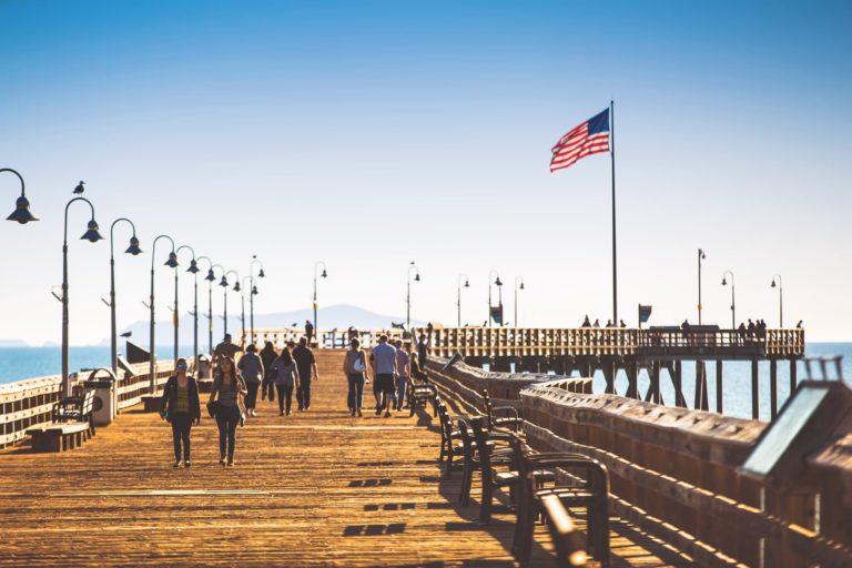 Walking on the Ventura Pier