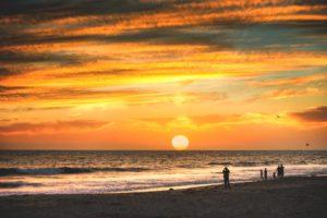 sunset ventura beach