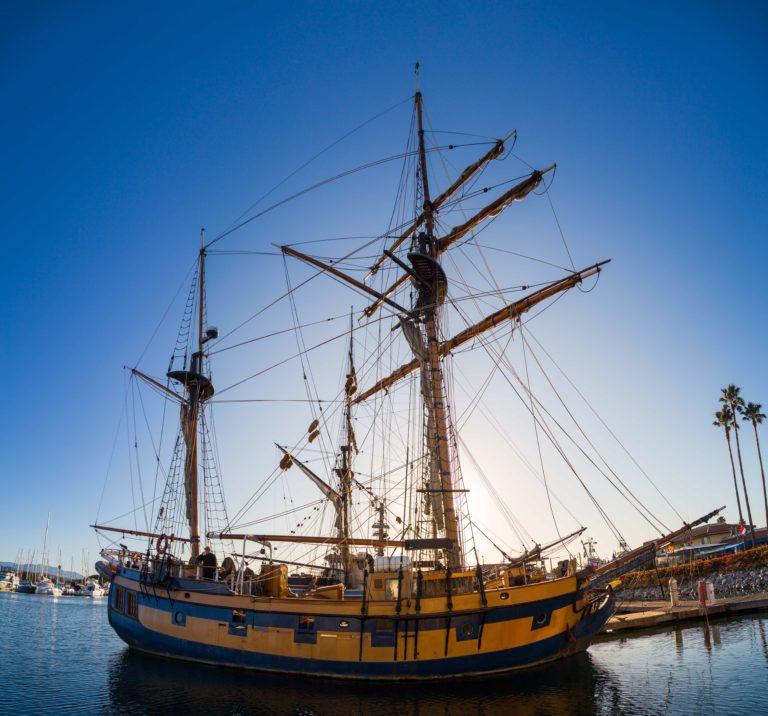 Tall ships in the Ventura Harbor