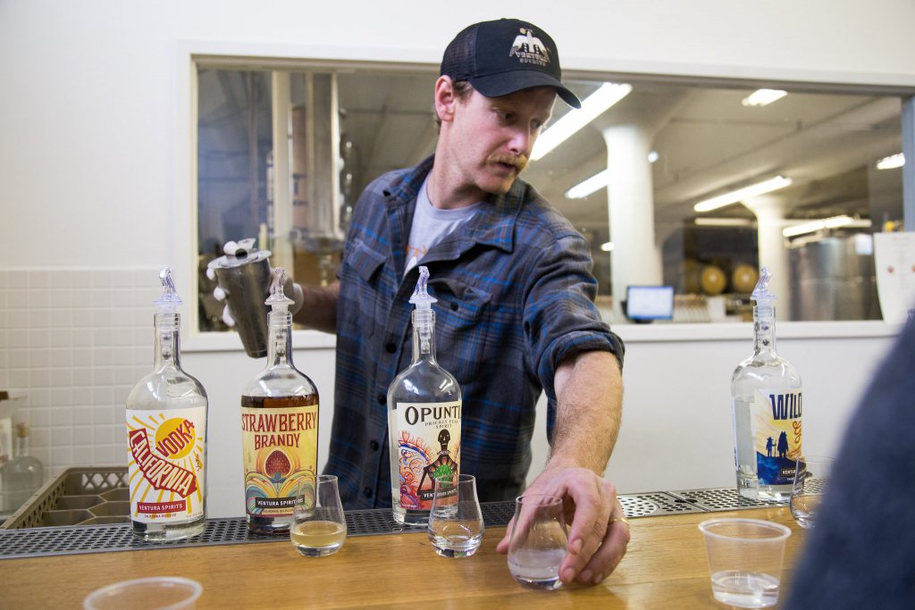 Bartender at Ventura Spirits
