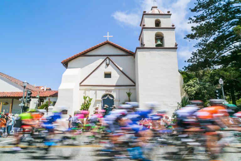 Amgen Tour of California in Ventura. Ventura Mission