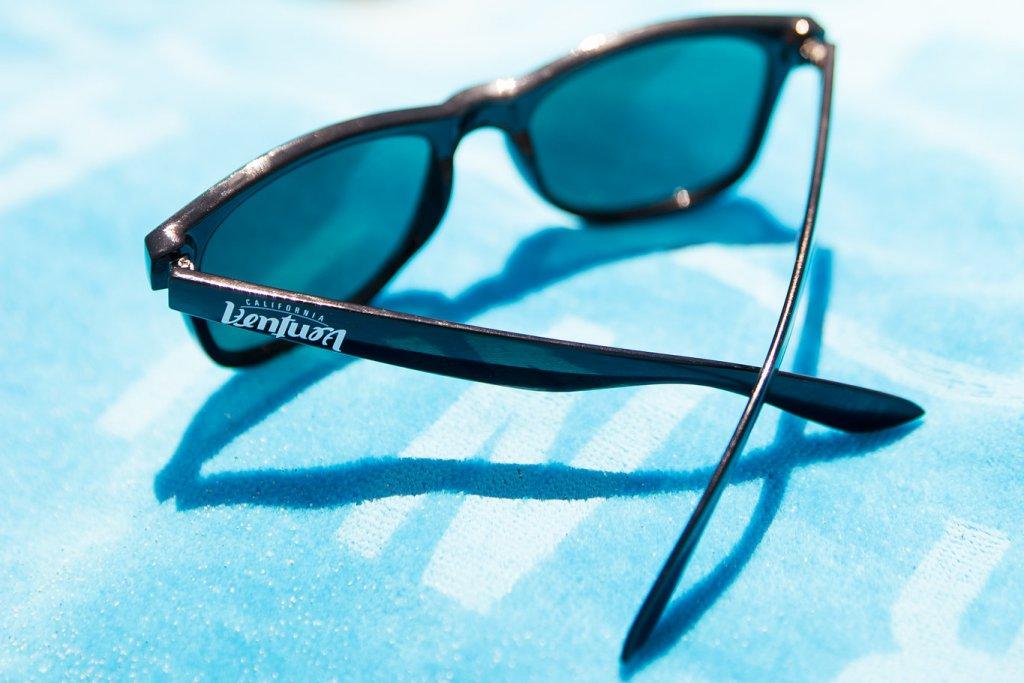Sunglasses, Black at the beach