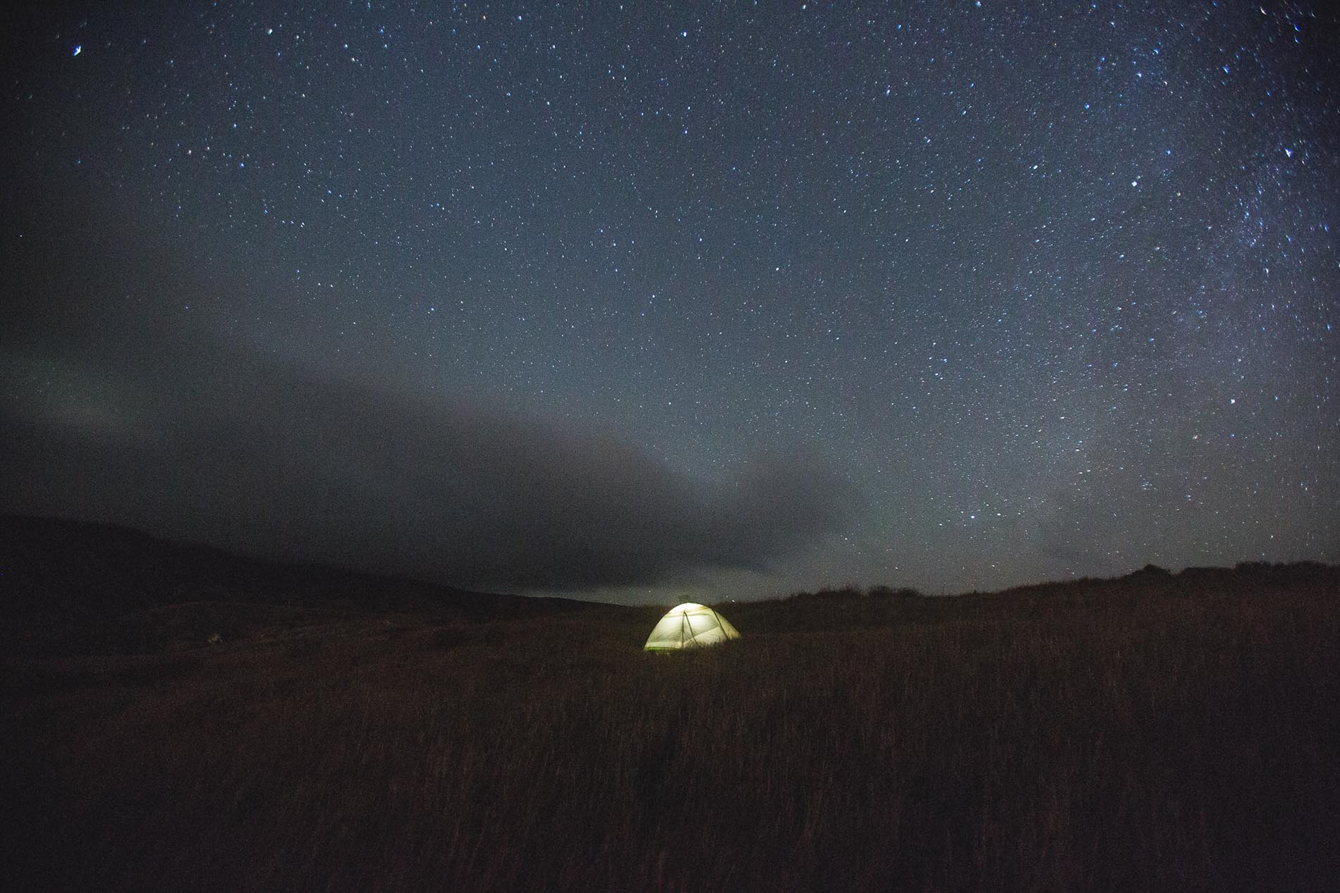 Camping under the stars on the Channel Islands hiking trails.