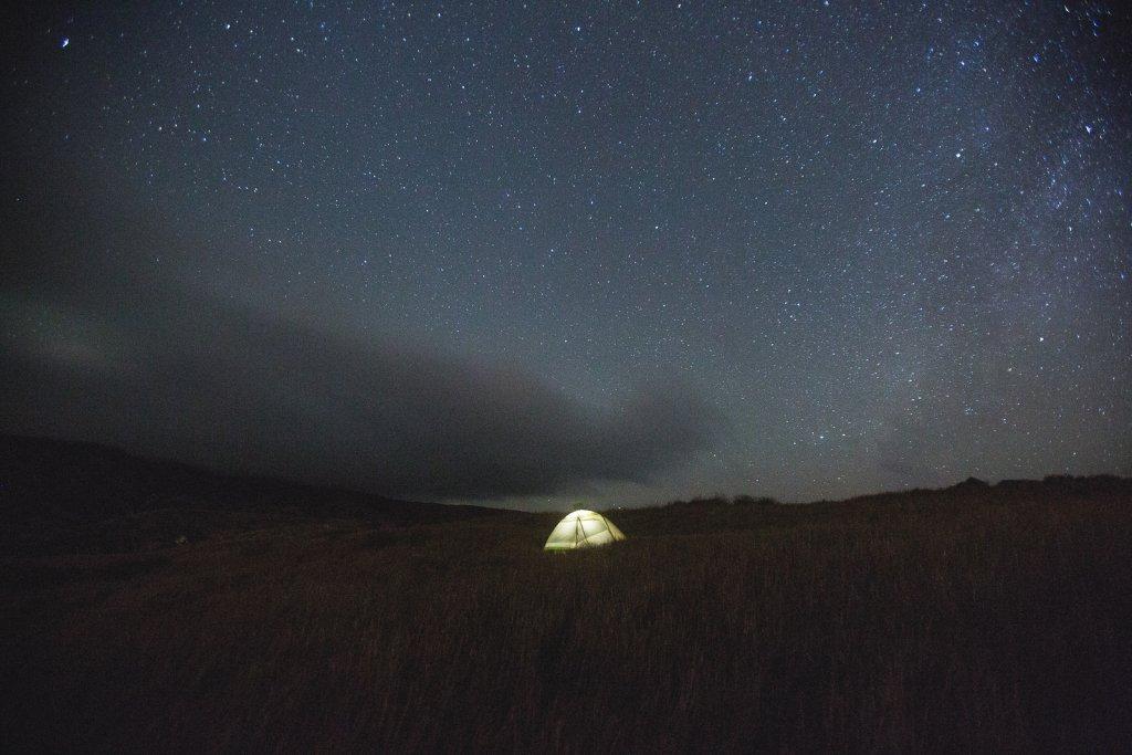 Camping at Santa Cruz Island