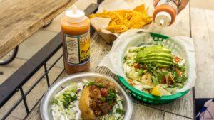 spencer mackenzies fish taco and burrito brooklyn style chili sauce