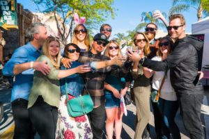 Friends Toasting at Spring Wine Walk in Ventura