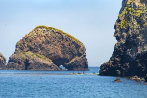 Group of Kayakers at Ventura Channel Islands National Park