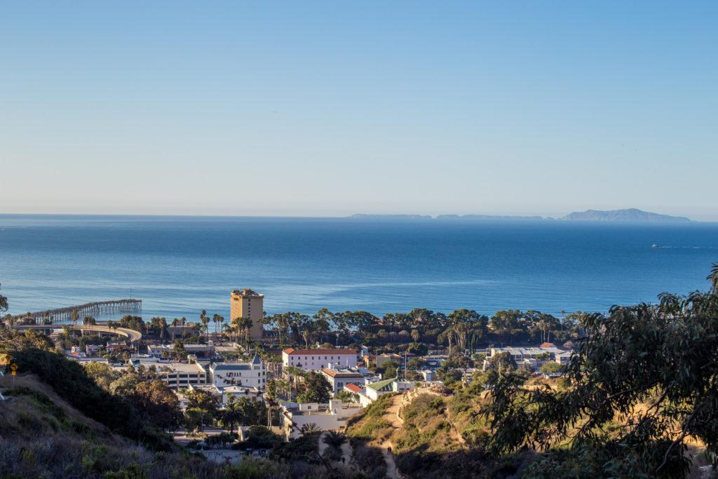 view from Ventura Botanical Gardens