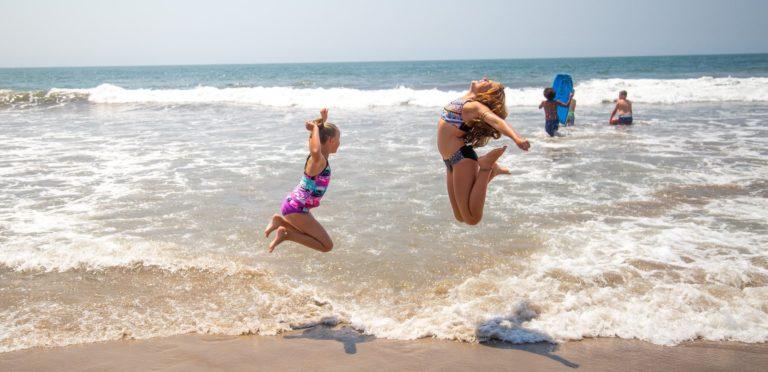 Playing on Ventura beach