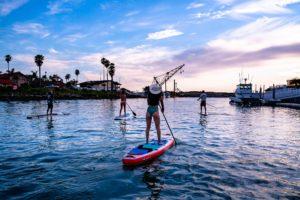 ventura harbor village sunset kayaking
