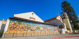 San Buenaventura Mission Mural in Ventura