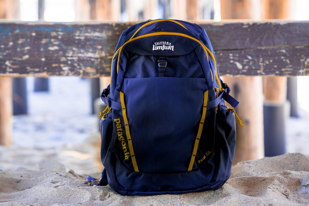 Patagonia Paxat Back Pack at the pier