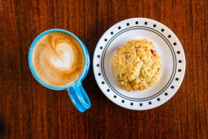 Coffee and Dessert at Kays Coffee Shop in Ventura