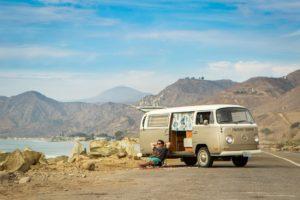 Ventura Coastline Beaches Volkswagen Bus