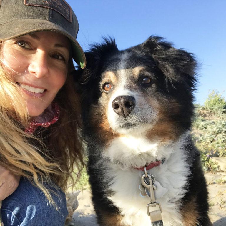 Brandy Herrin and Kona the dog