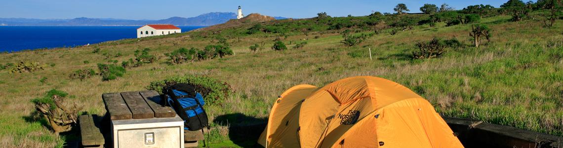 Camp on Santa Cruz