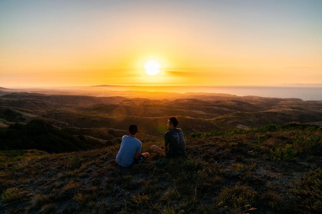 Sunset at Black Mountain at Santa Rosa Island