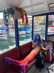 mermaid in a boat ventura harbor village