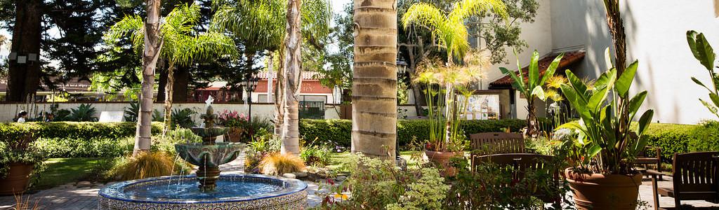 San Buenaventura Mission gardens