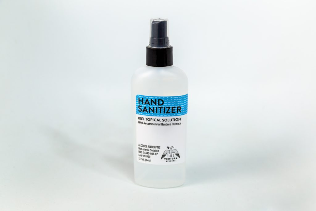 Ventura Spirits hand sanatizer