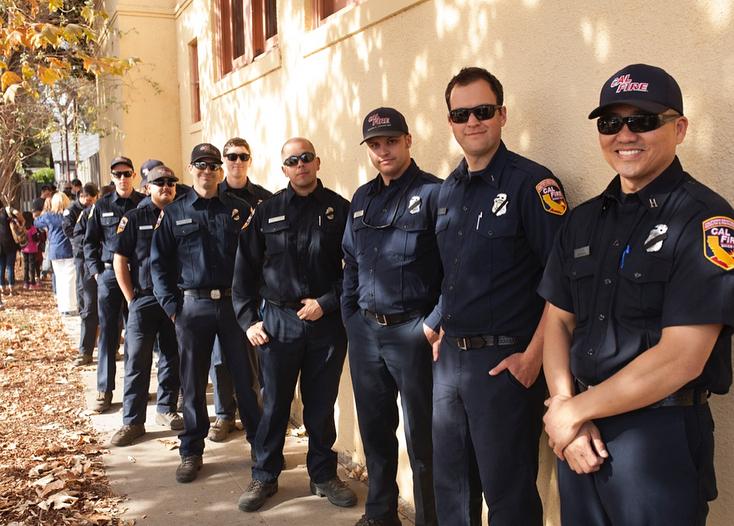 Firefighters in Ventura