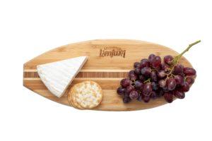ventura surf board cutting and cheese board