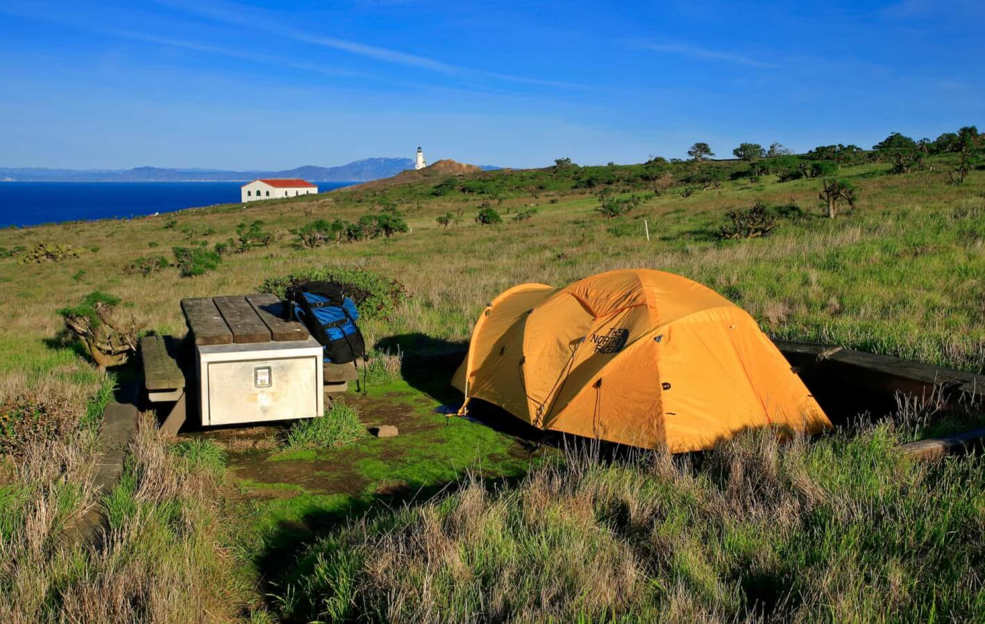 Camping on Anacapa island