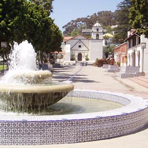 Fountain at San Buena Ventura Mission