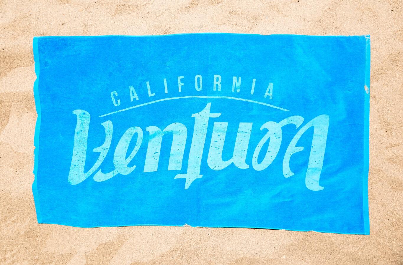 Ventura beach towel for visitor center blog