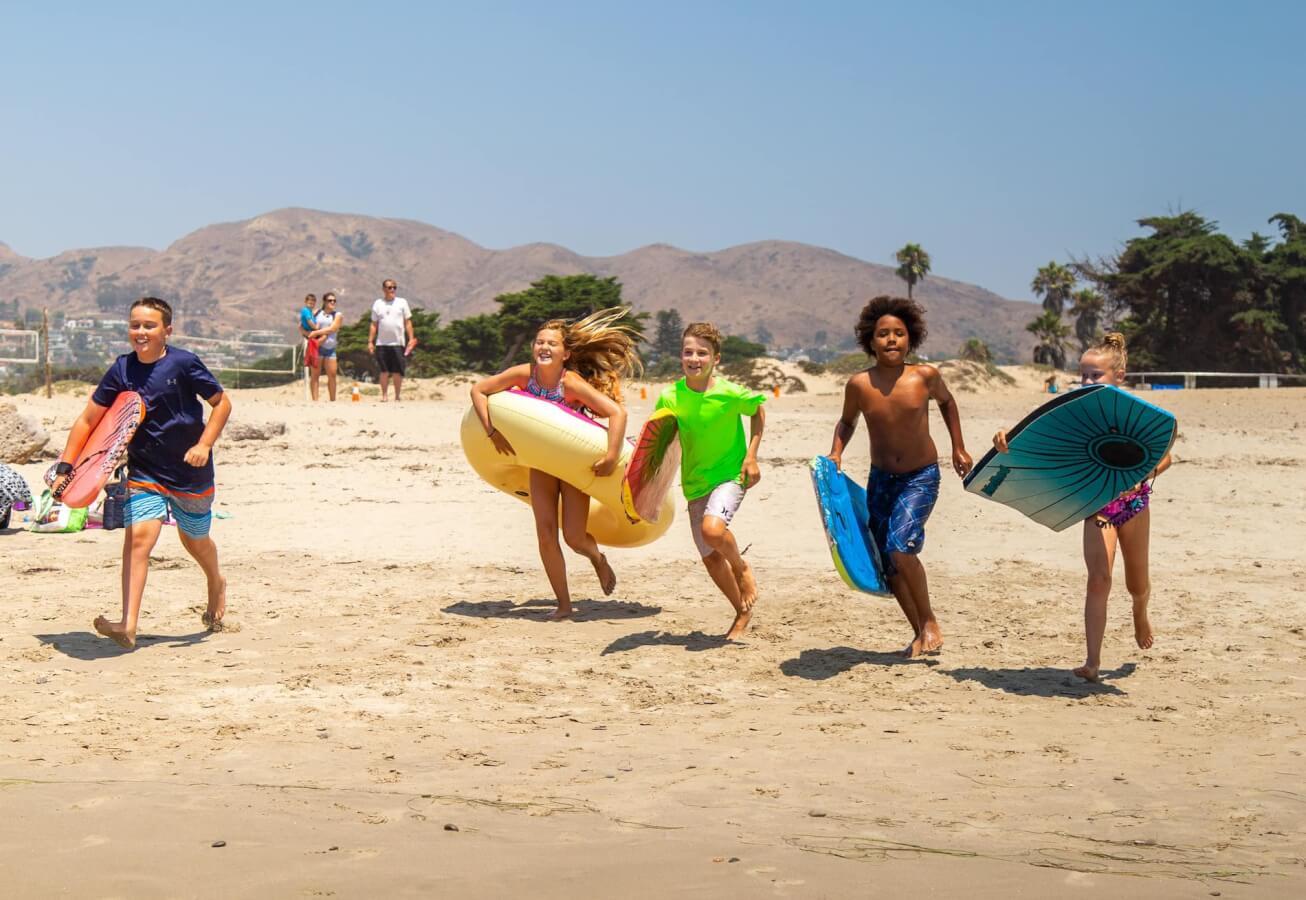 Kids playing Ventura beach