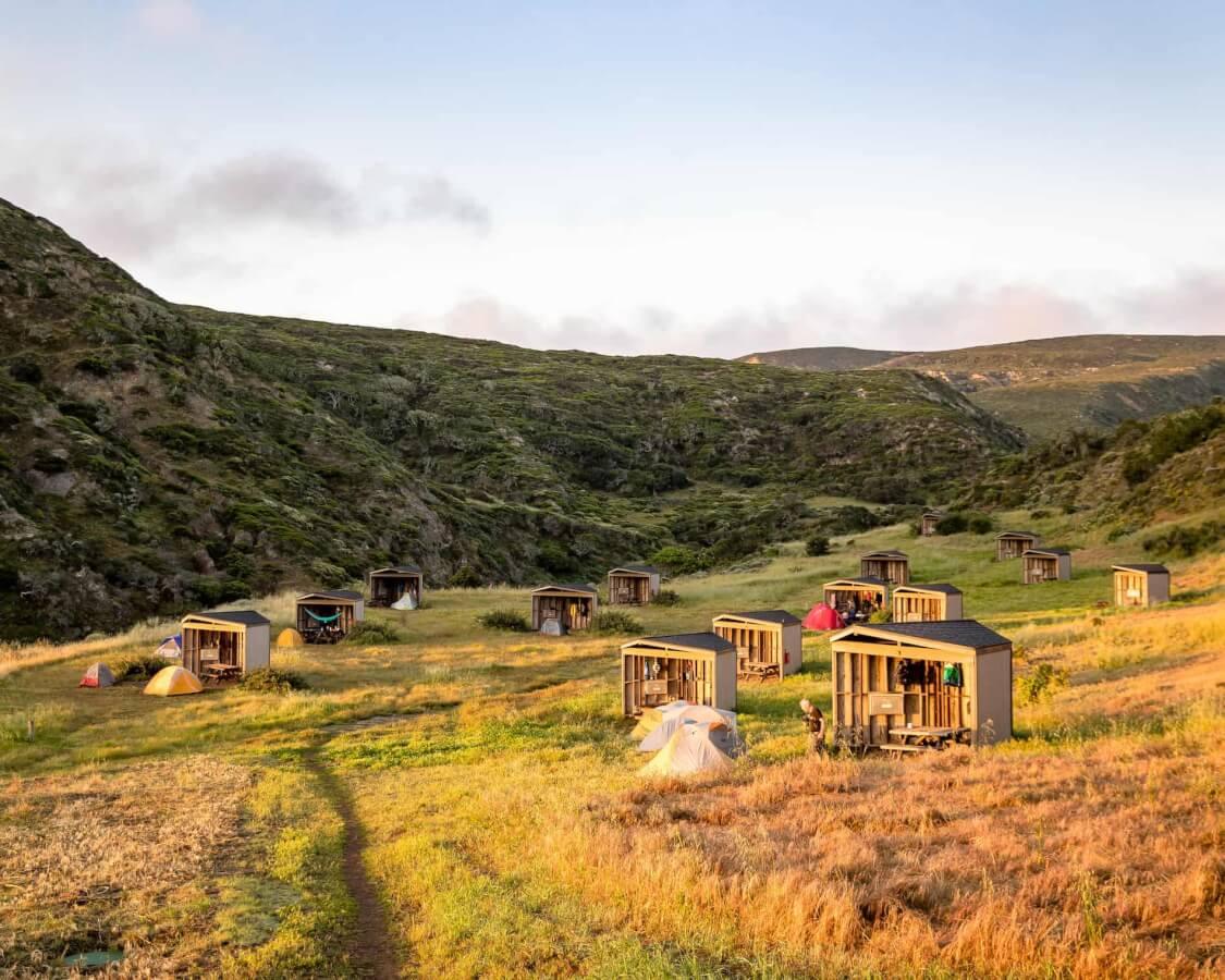 Camping on Santa Rosa Island
