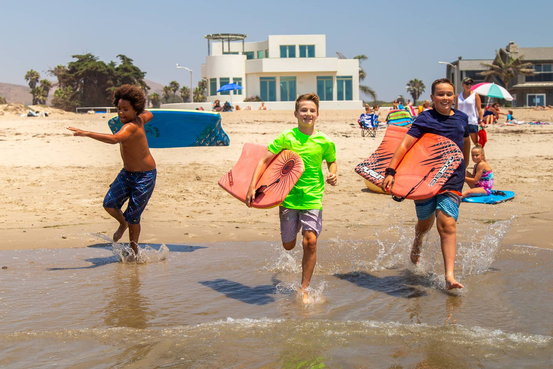 Kids playing on ventura state beach