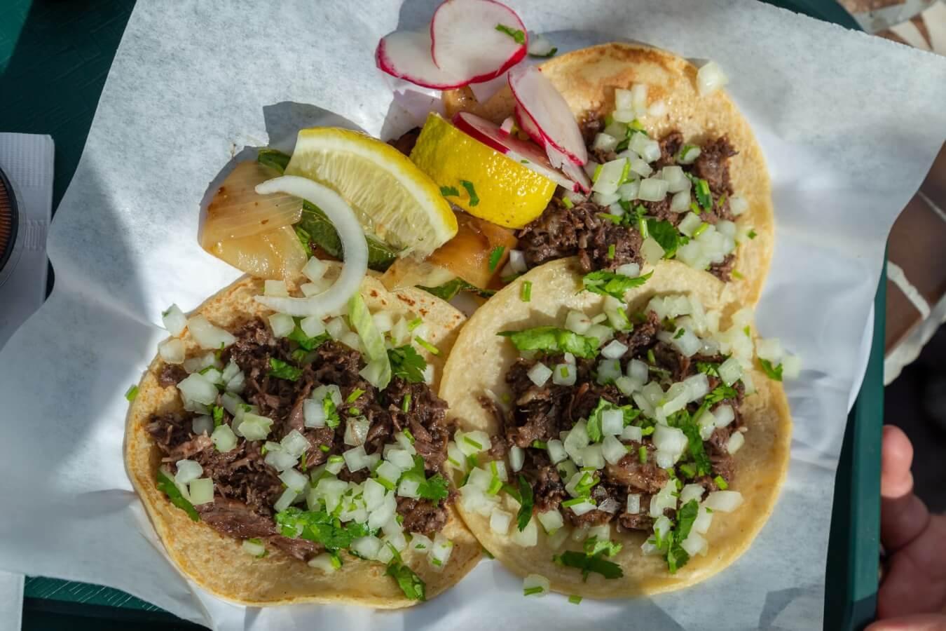 Tacos at Taqueria Dona Raquel