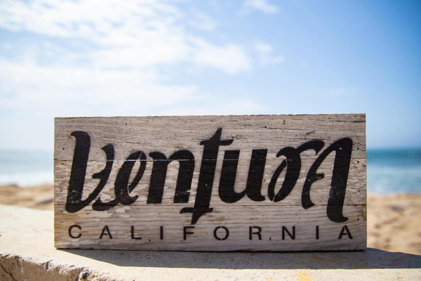 Ventura wood sign for visitor center blog